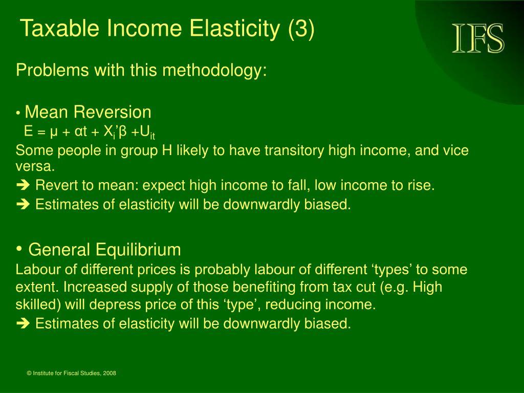 Taxable Income Elasticity (3)