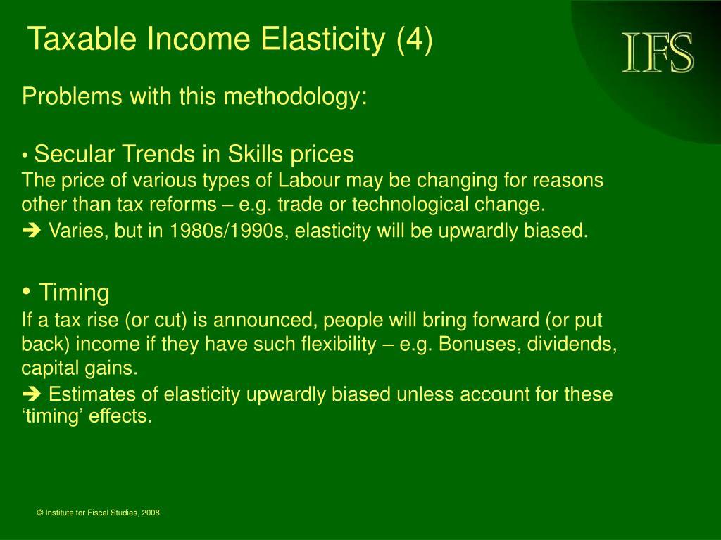 Taxable Income Elasticity (4)