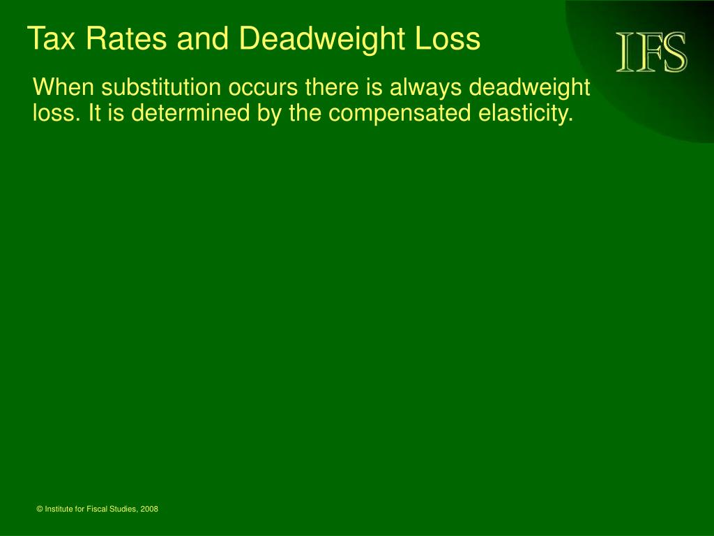 Tax Rates and Deadweight Loss