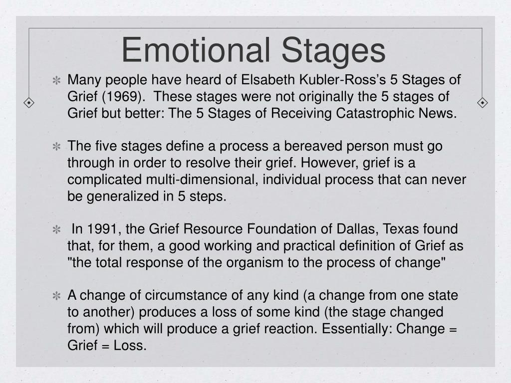 Emotional Stages