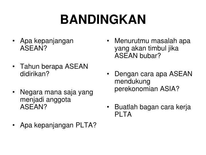 Apa kepanjangan ASEAN?