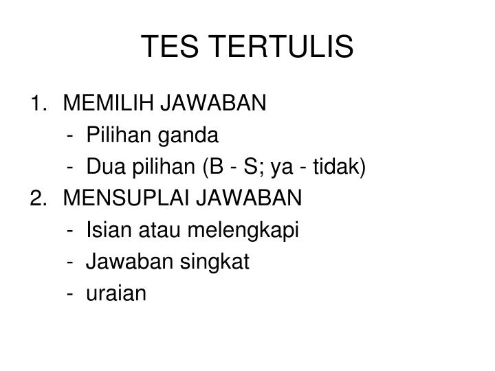 TES TERTULIS