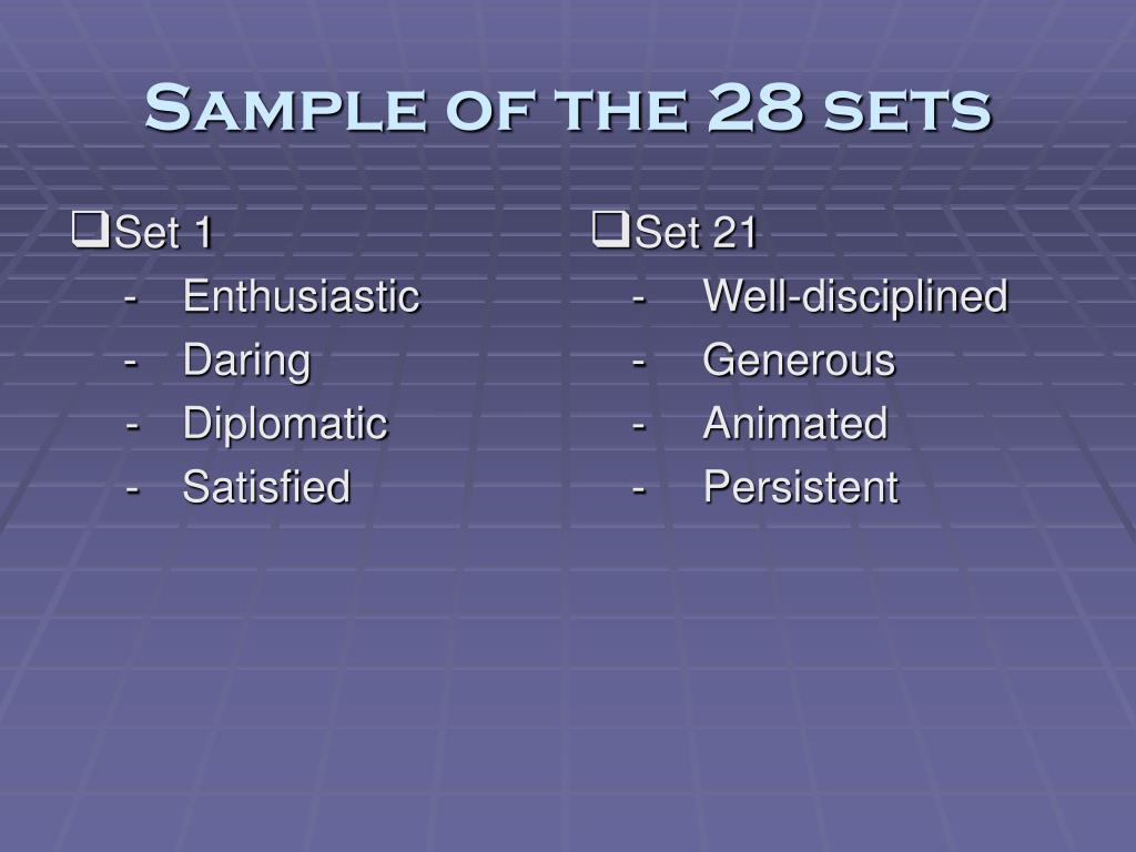 Set 1