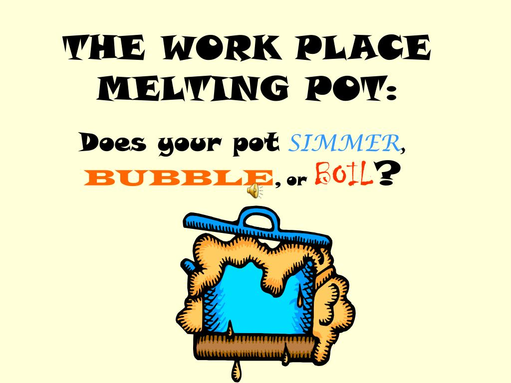 THE WORK PLACE MELTING POT: