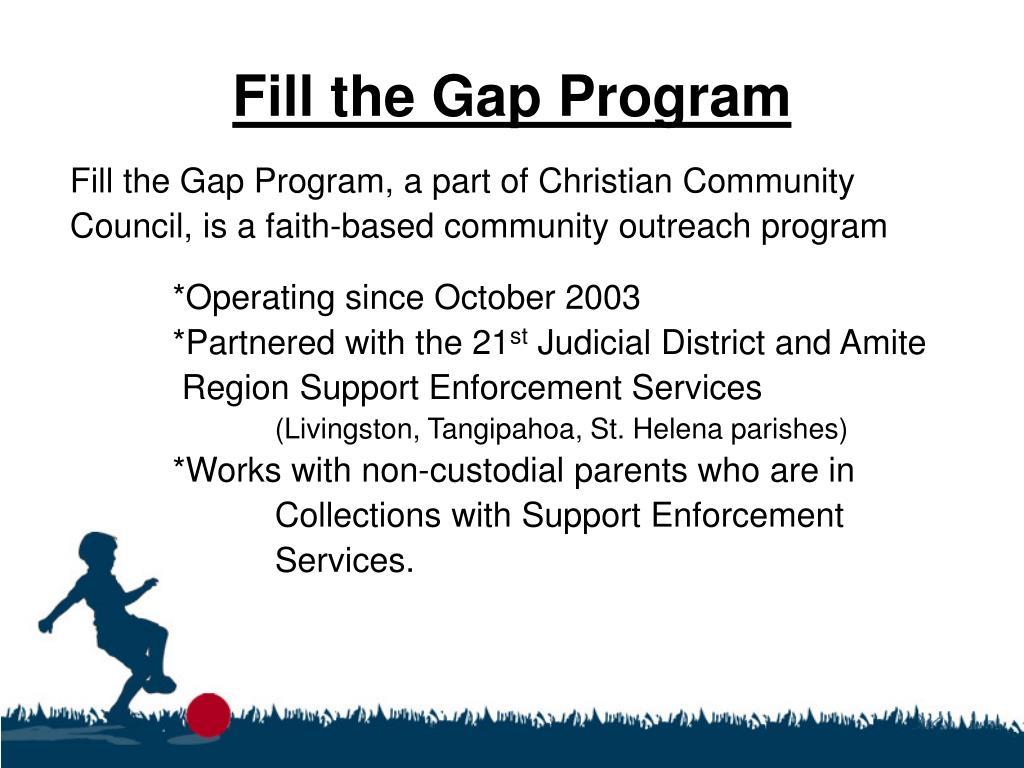 Fill the Gap Program