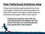 how fatherhood initiatives help