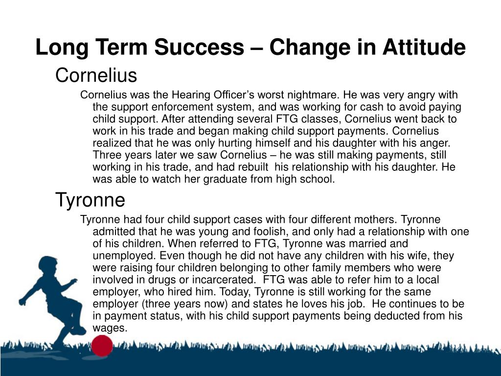 Long Term Success – Change in Attitude