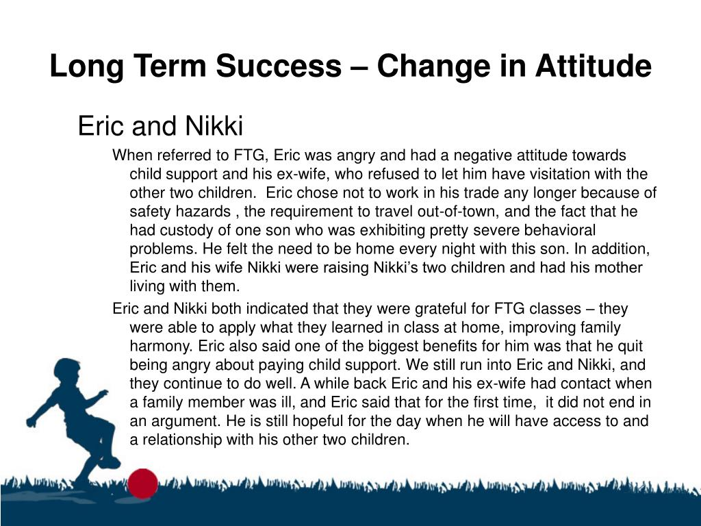 Long Term Success – Change in Attitude