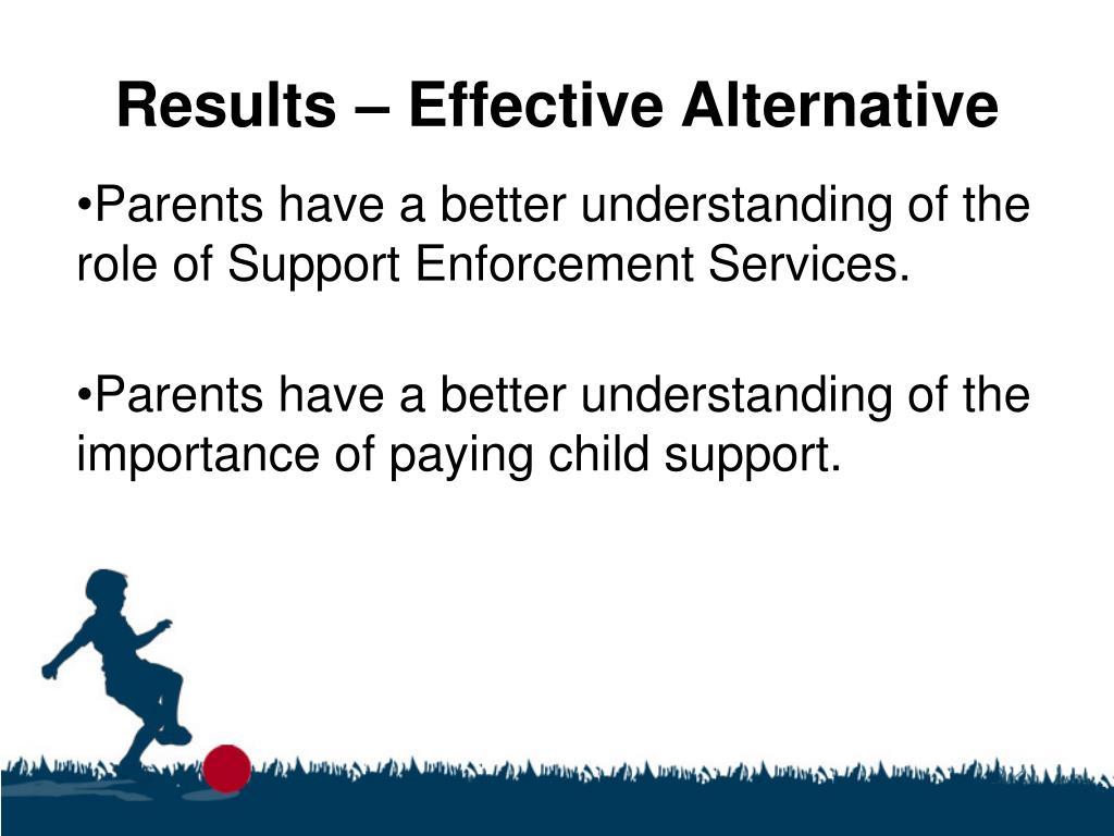 Results – Effective Alternative
