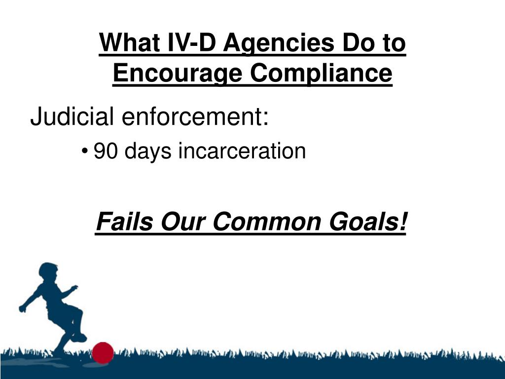 What IV-D Agencies Do to Encourage Compliance