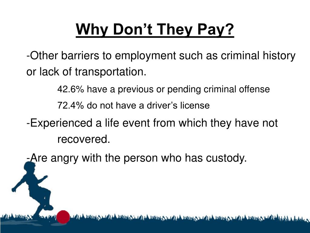 Why Don't They Pay?