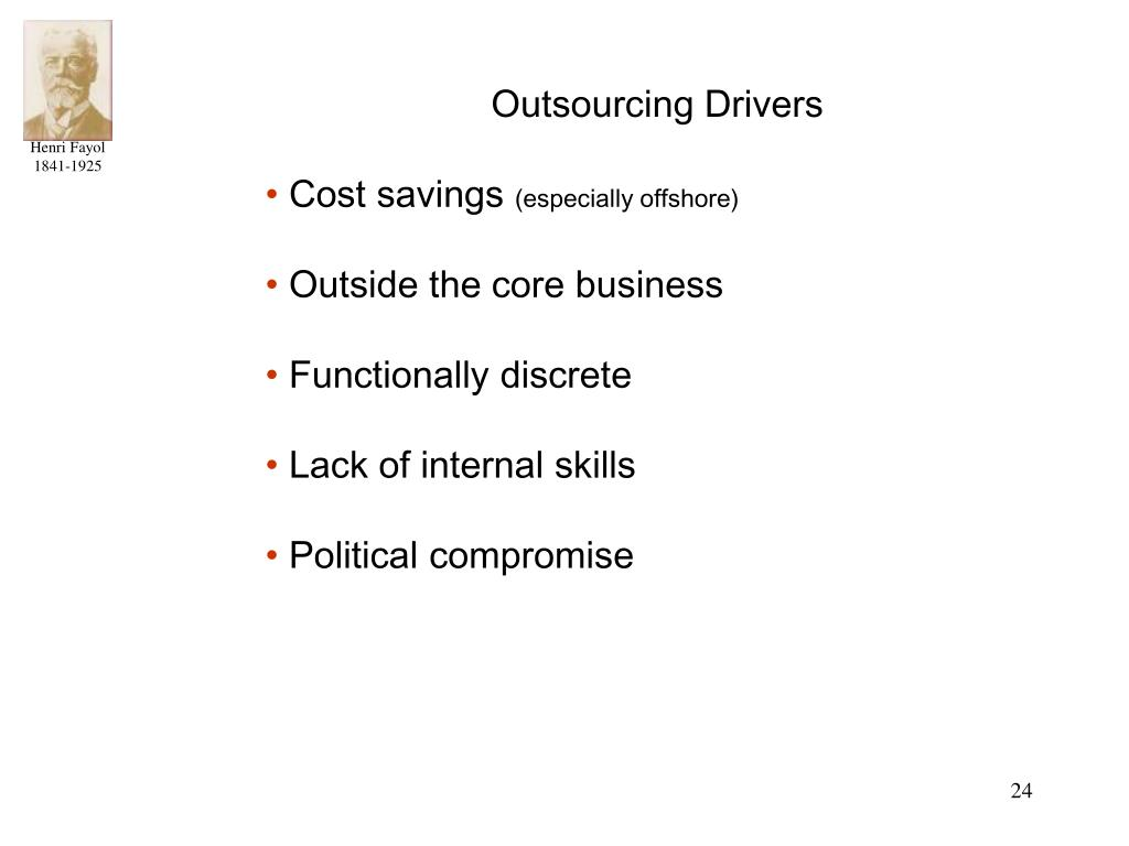 Outsourcing Drivers