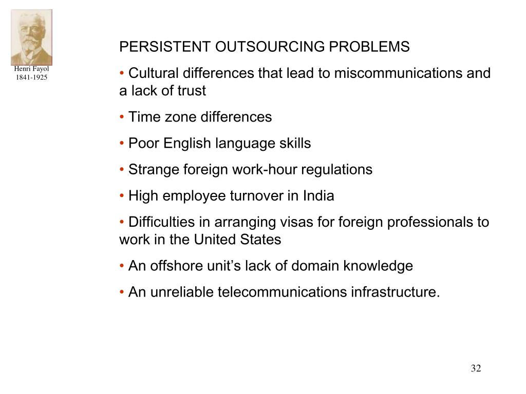 PERSISTENT OUTSOURCING PROBLEMS