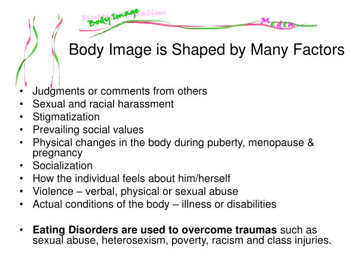 Body image is shaped by many factors