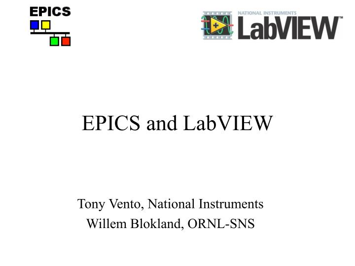Epics and labview