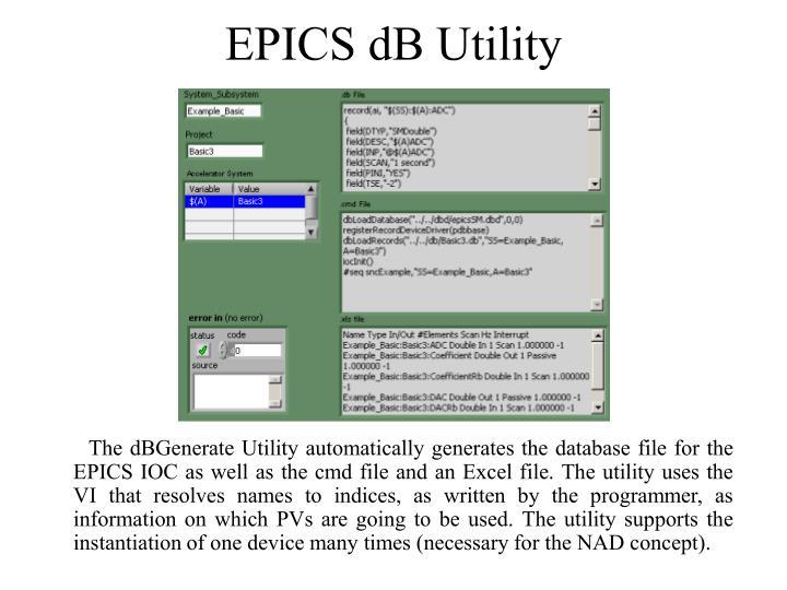EPICS dB Utility