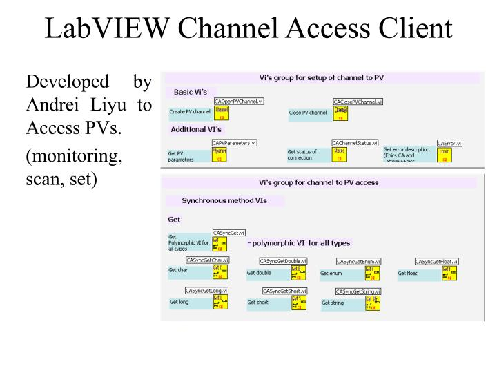 LabVIEW Channel Access Client