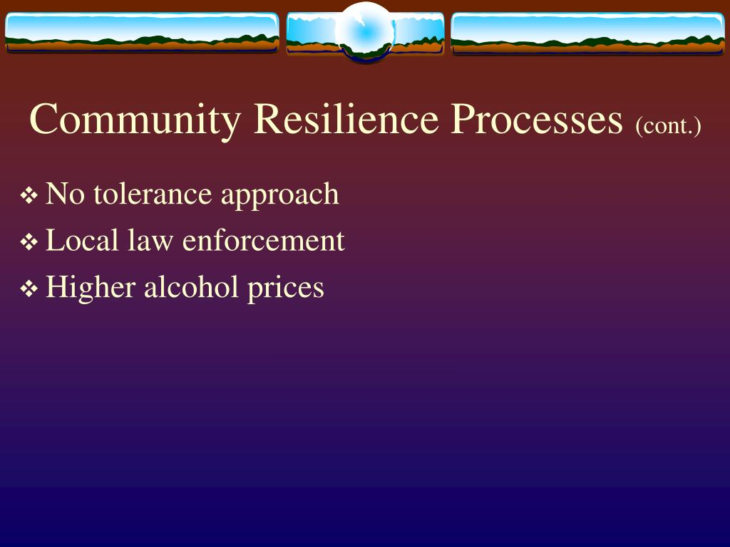 Community Resilience Processes