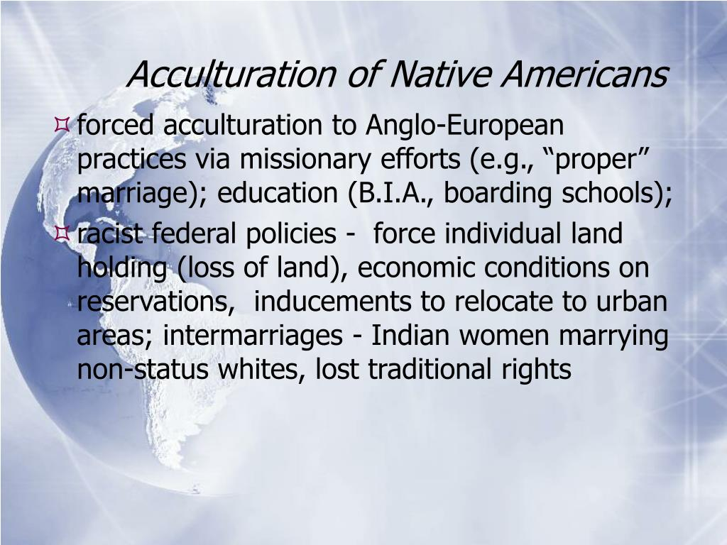 Acculturation of Native Americans
