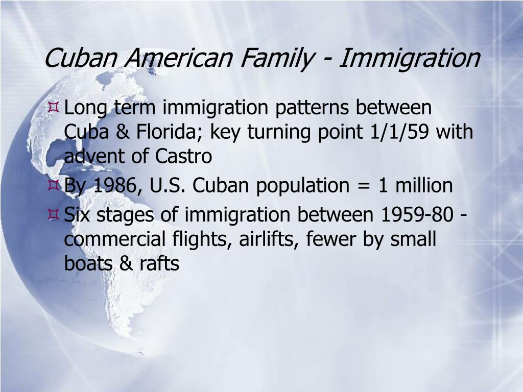 Cuban American Family - Immigration