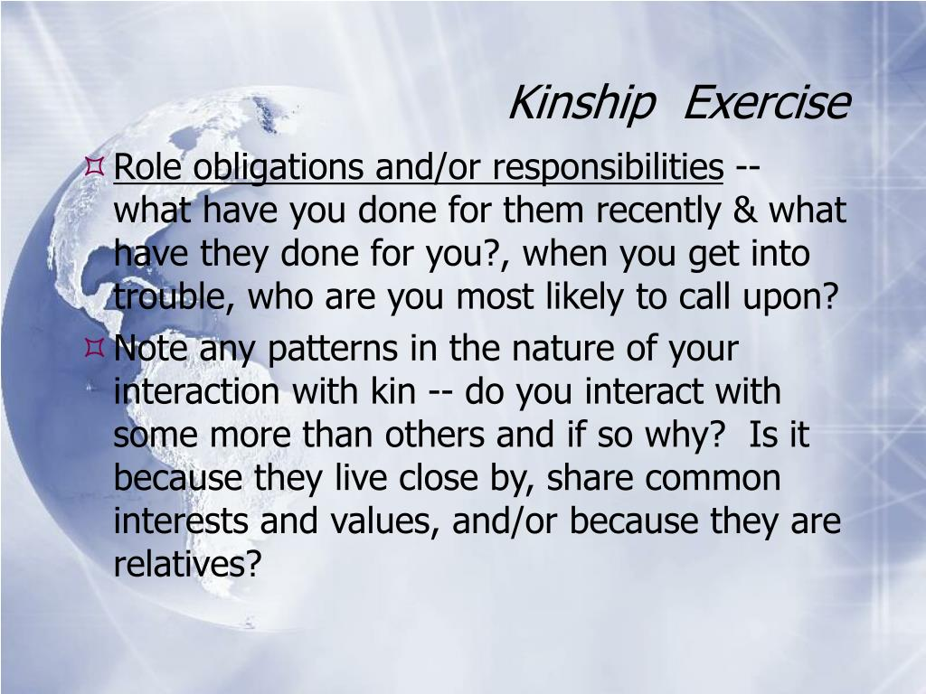 Kinship  Exercise