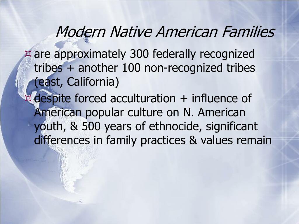 Modern Native American Families