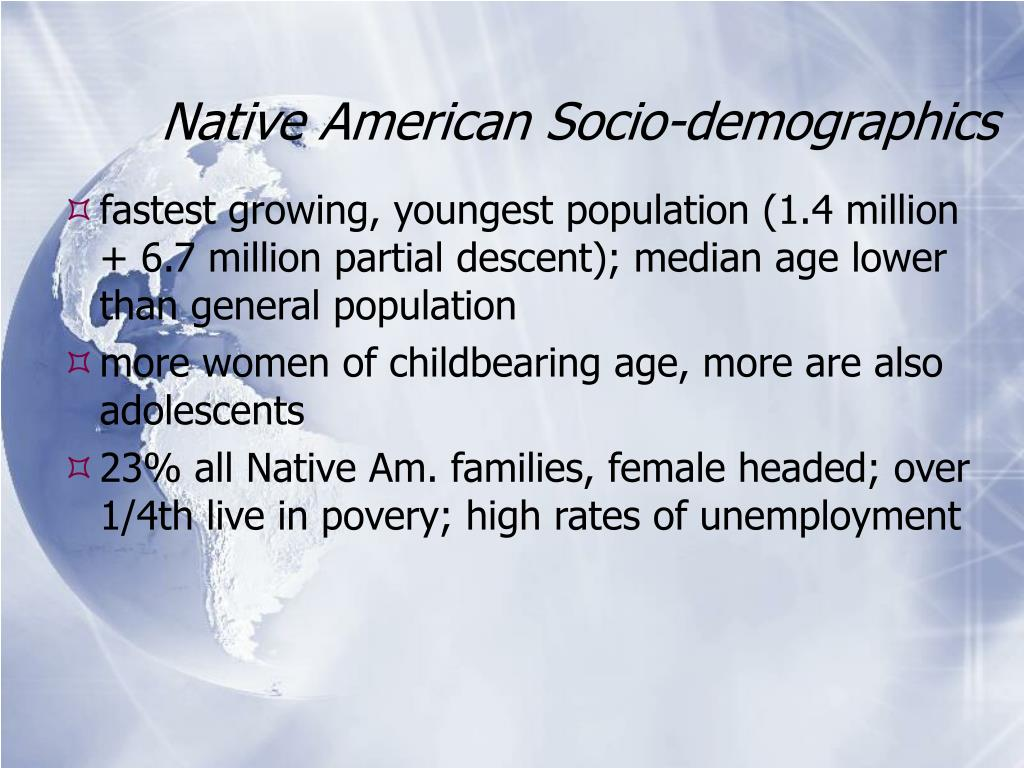Native American Socio-demographics