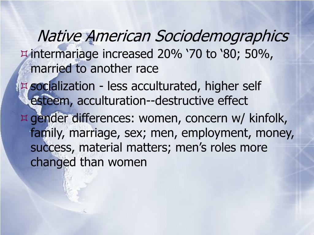 Native American Sociodemographics