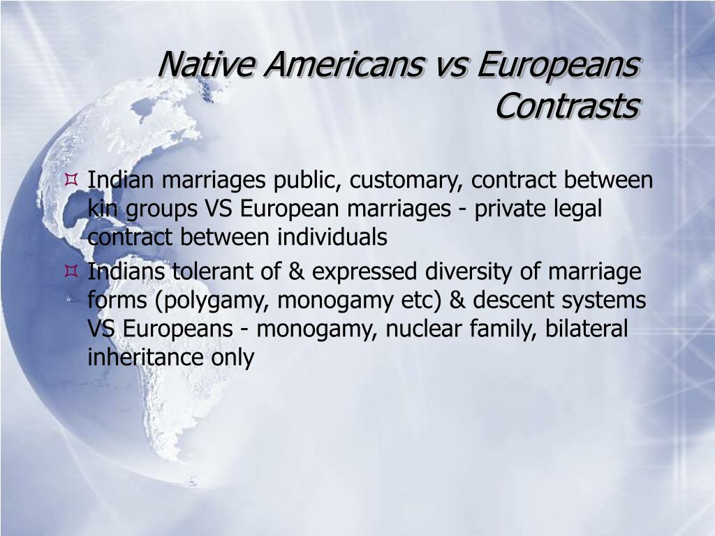 Native Americans vs Europeans