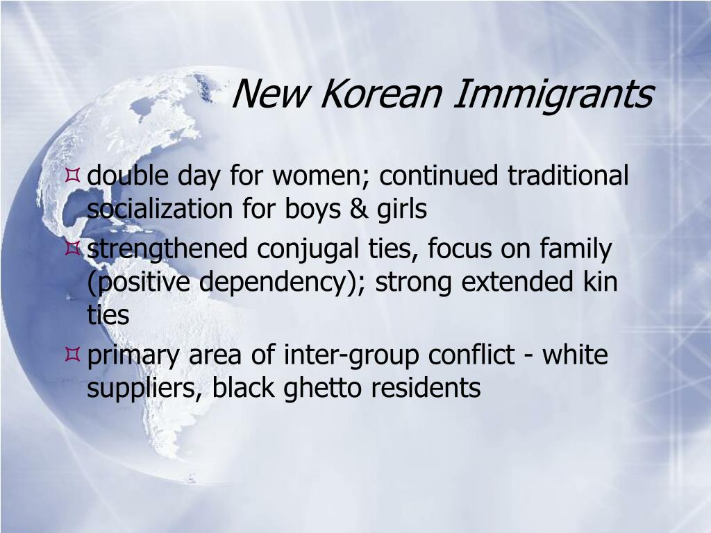 New Korean Immigrants
