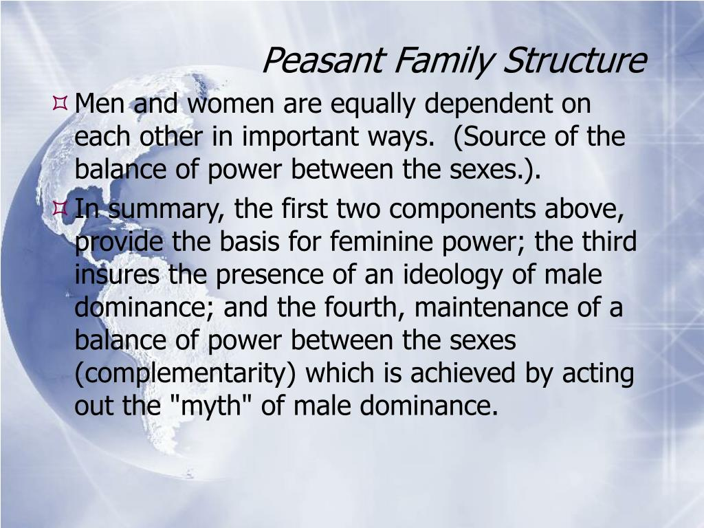 Peasant Family Structure