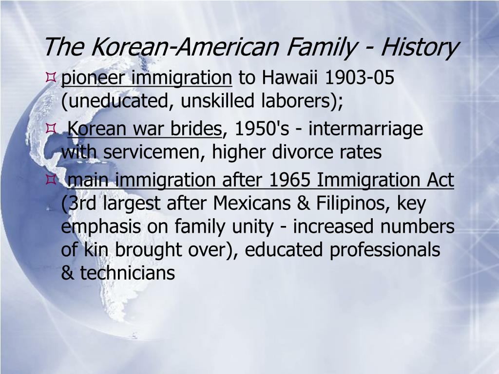 The Korean-American Family - History