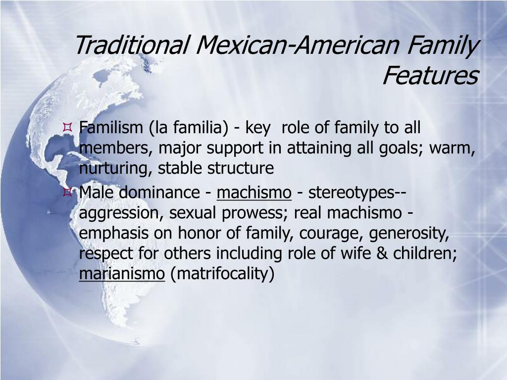 Traditional Mexican-American Family Features