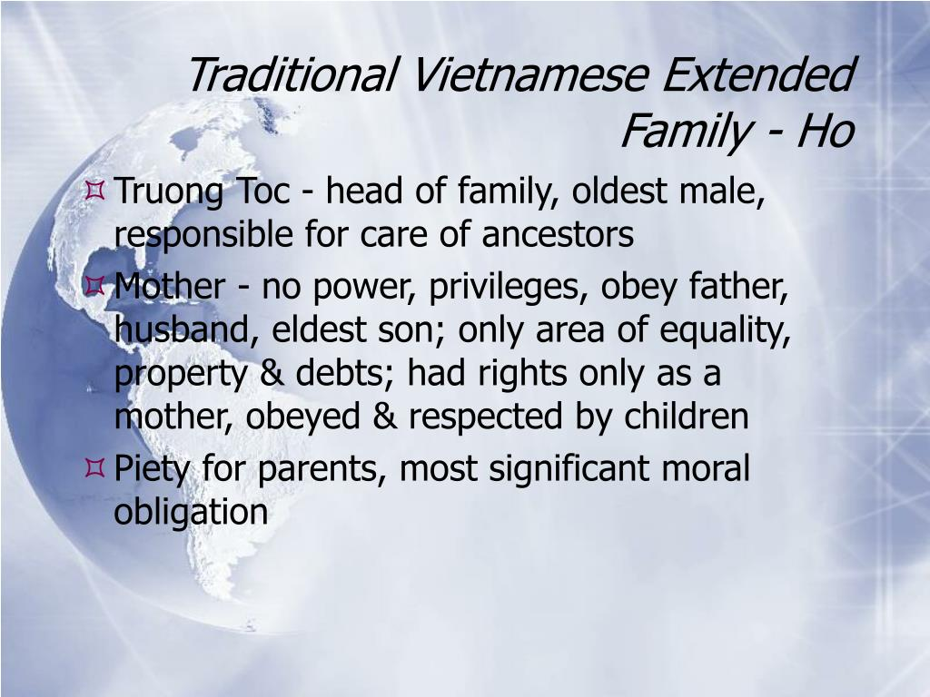 Traditional Vietnamese Extended Family - Ho