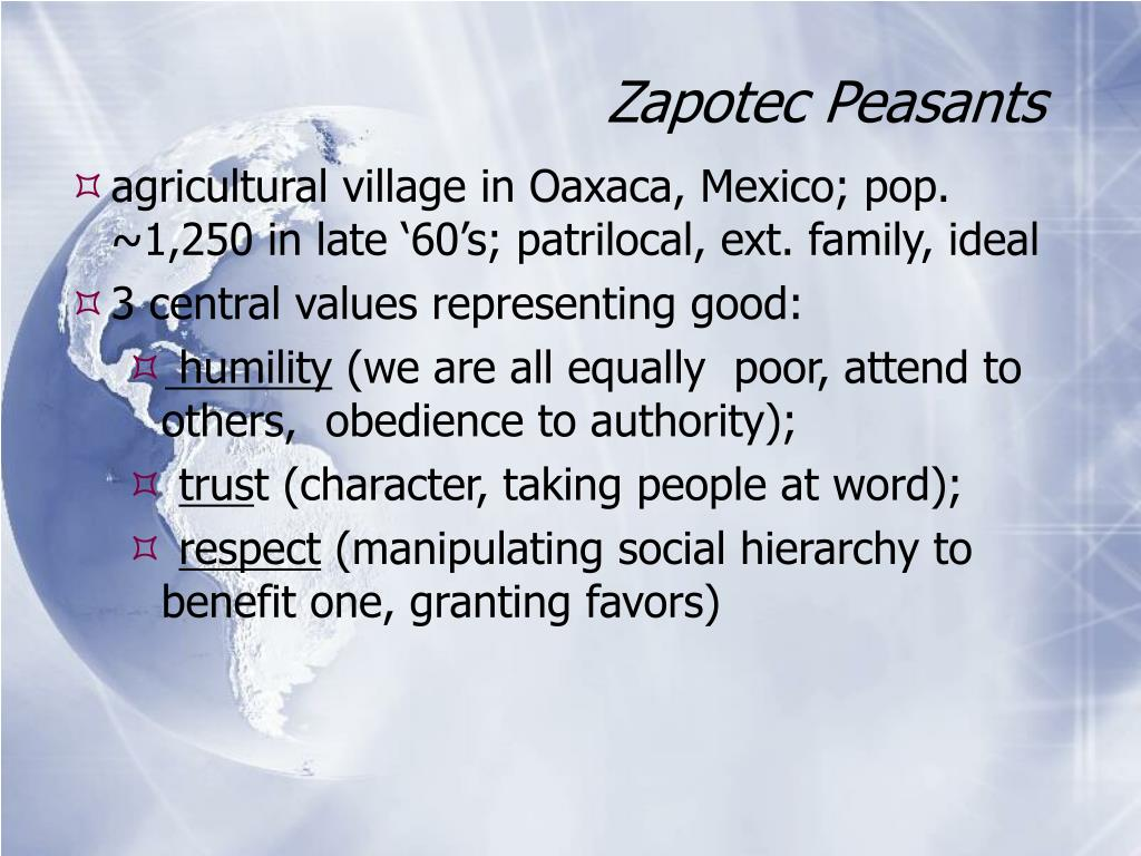 Zapotec Peasants