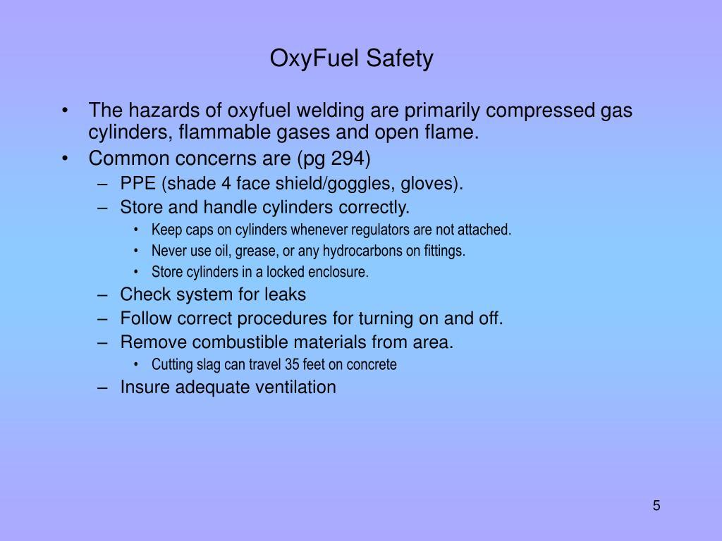 OxyFuel Safety
