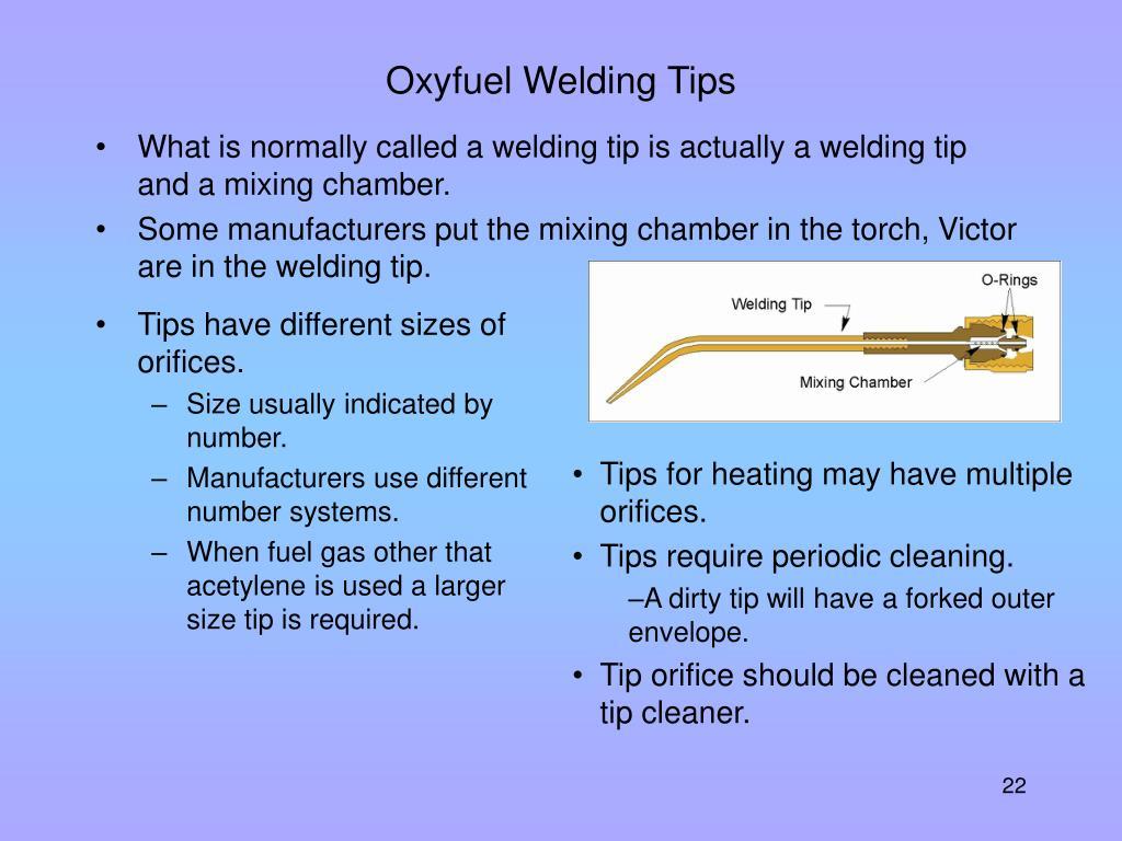 Oxyfuel Welding Tips
