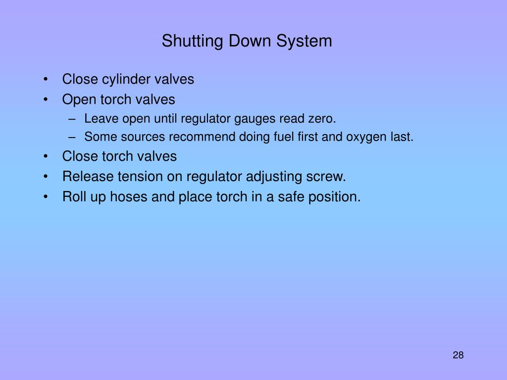 Shutting Down System