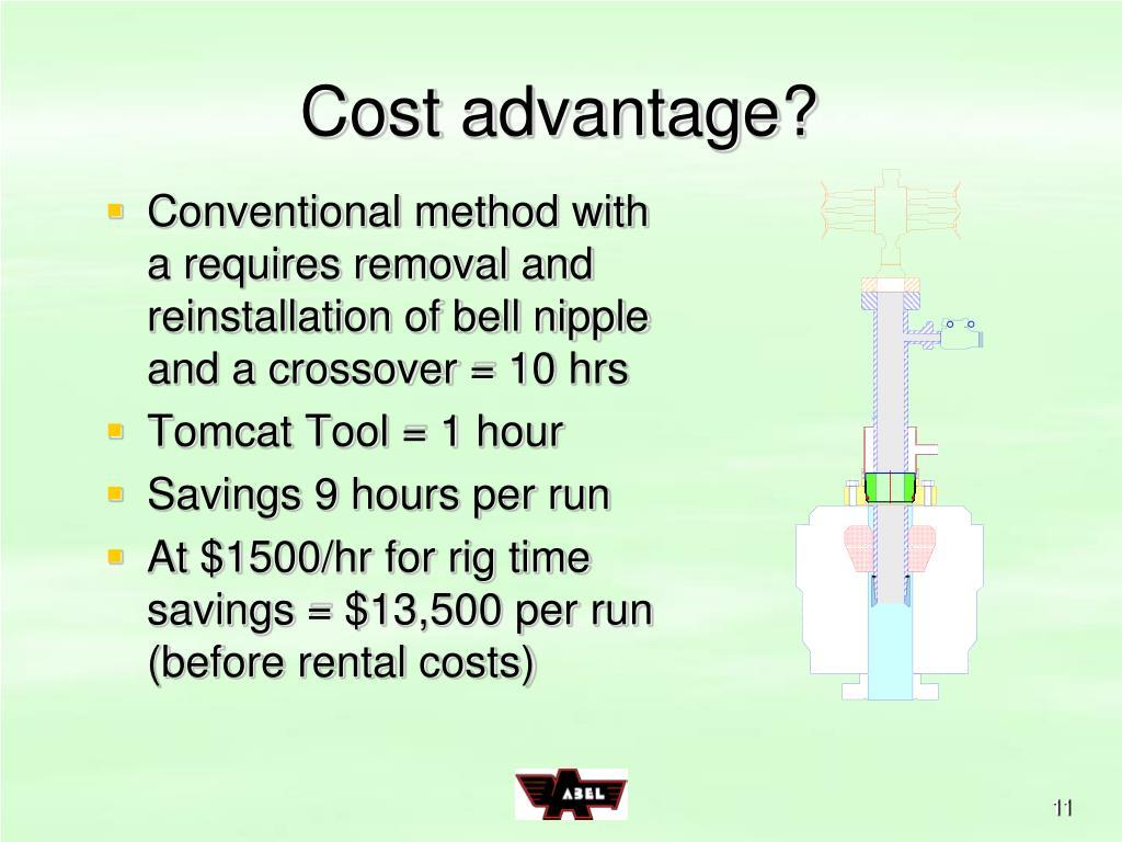 Cost advantage?