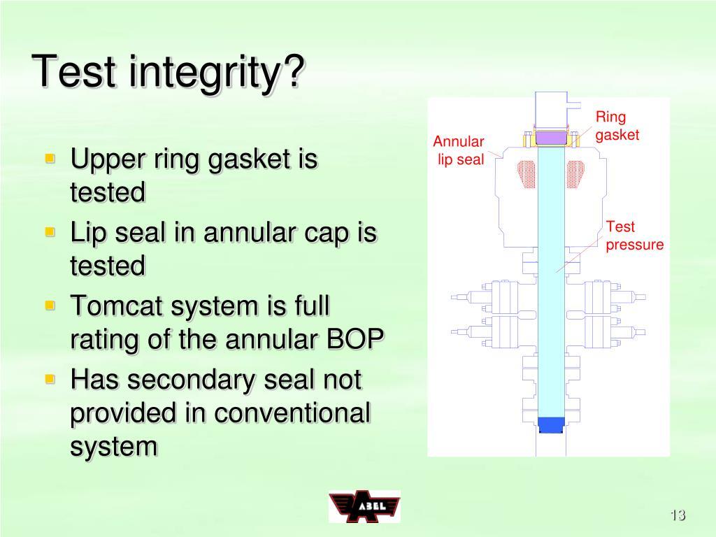 Test integrity?