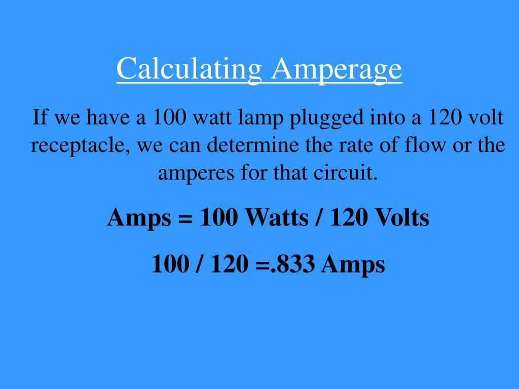 Calculating Amperage