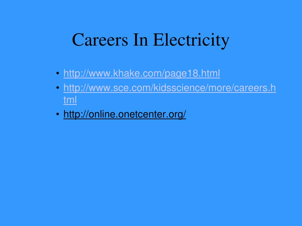 Careers In Electricity