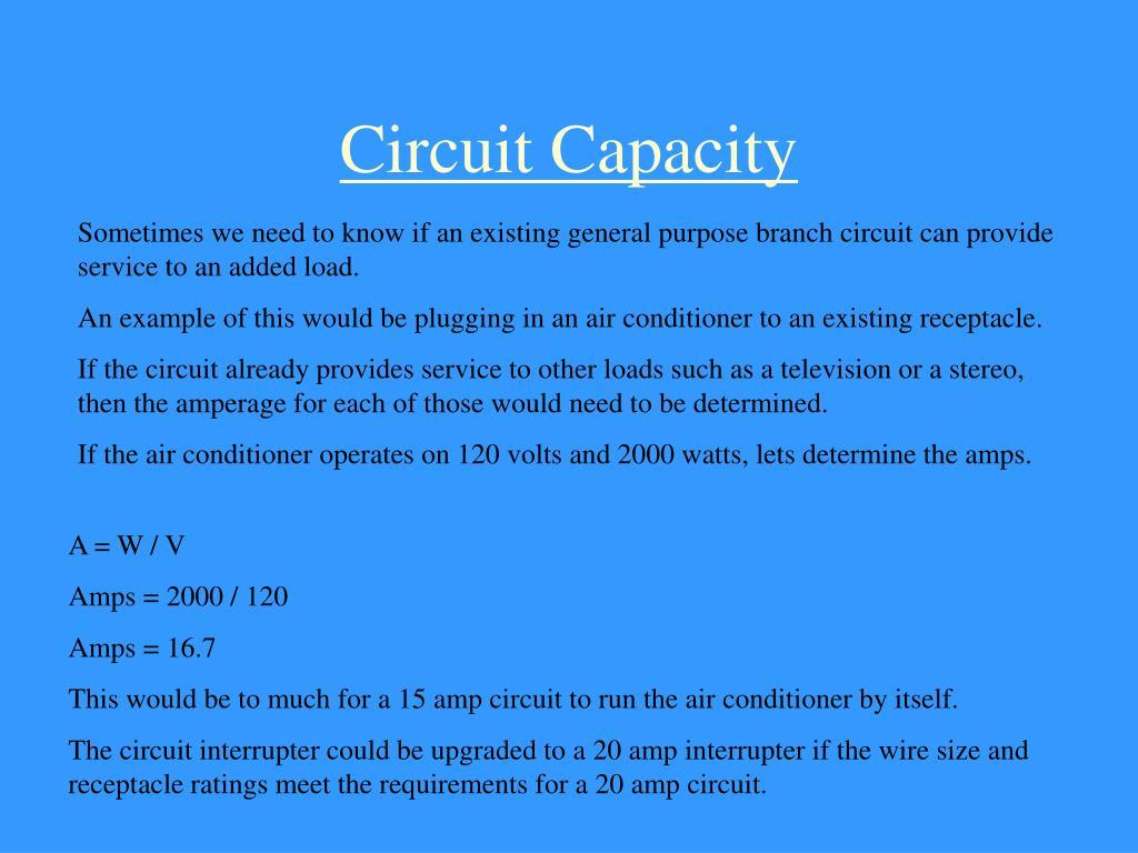 Circuit Capacity