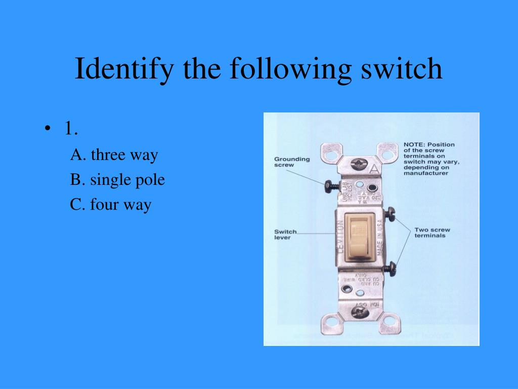 Identify the following switch