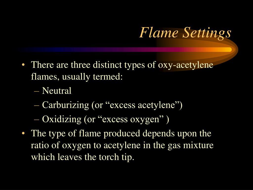 Flame Settings