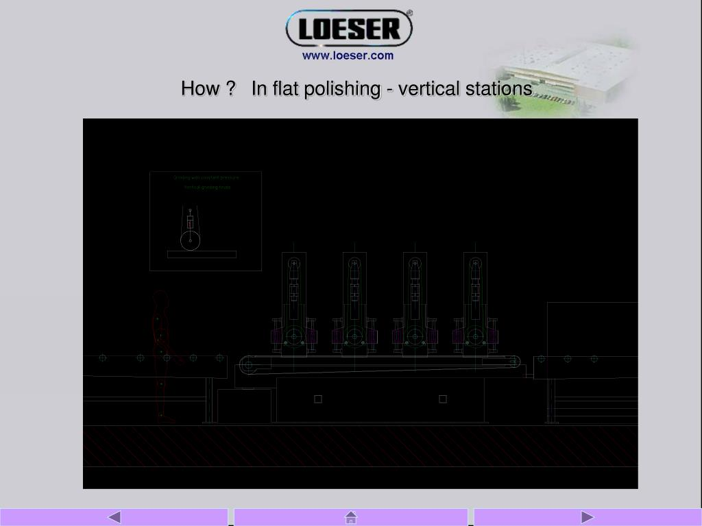 How ?In flat polishing - vertical stations