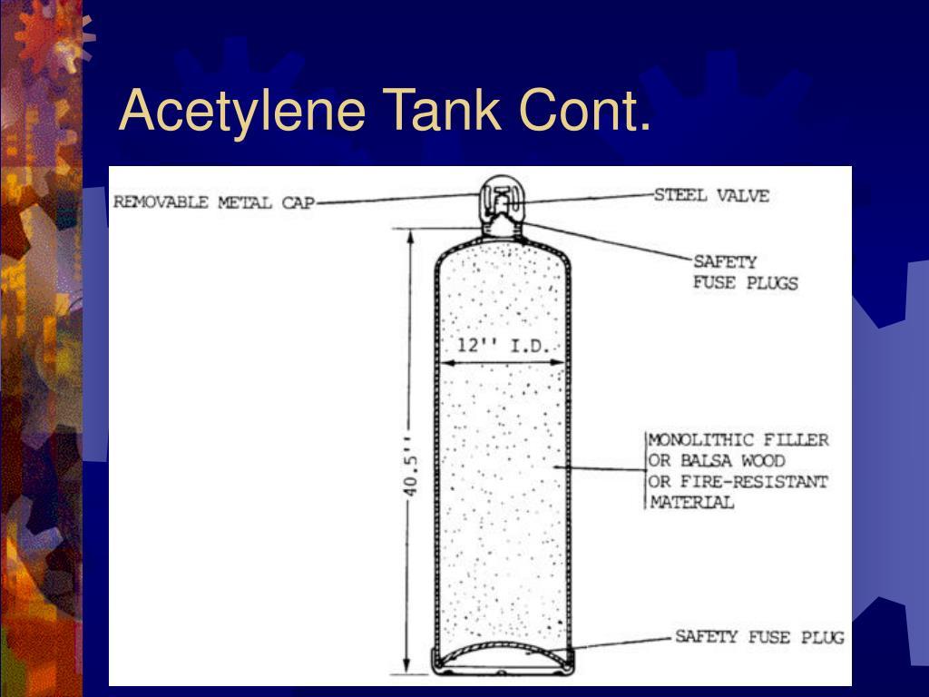 Acetylene Tank Cont.