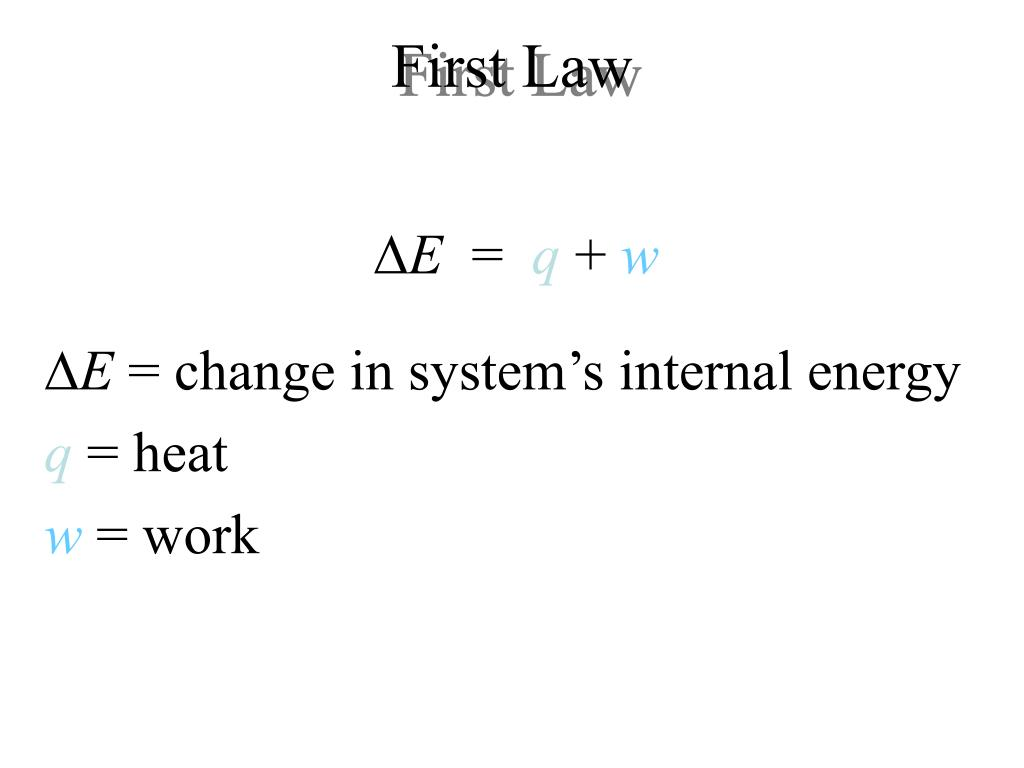 First Law