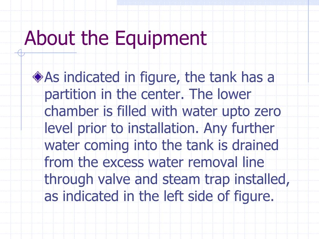 About the Equipment