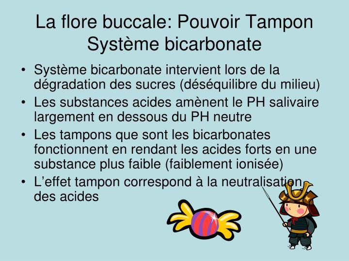La flore buccale: Pouvoir Tampon